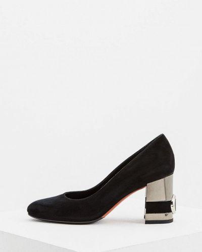 Туфли осенние для офиса замшевые Baldinini