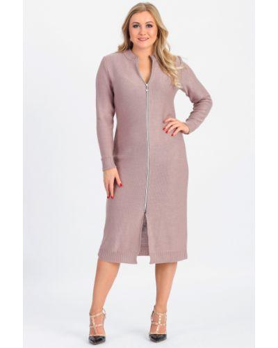 Вязаное платье теплое на молнии Lacywear