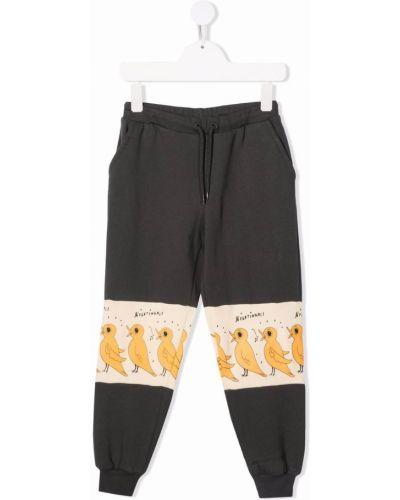 Czarne spodnie bawełniane Mini Rodini