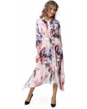 Платье с поясом на пуговицах платье-рубашка Dizzyway