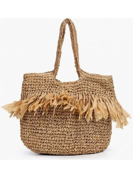 Пляжная сумка бежевый весенний Topshop