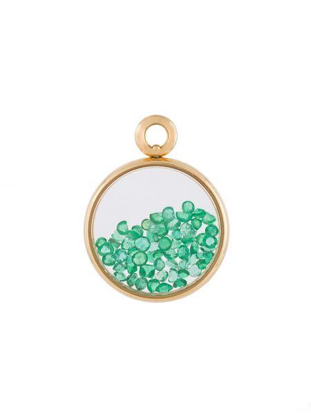 Зеленый золотая подвеска с изумрудом AurÉlie Bidermann