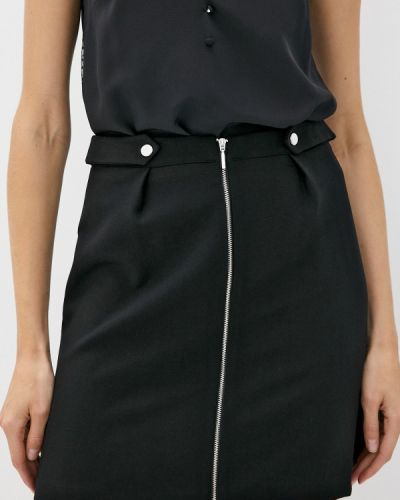 Черная юбка свободного кроя Naf Naf
