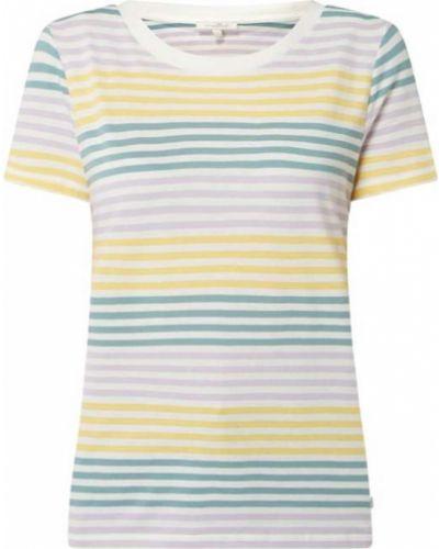Żółty t-shirt bawełniany w paski Tom Tailor Denim