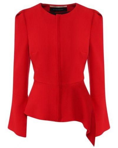 Шерстяной красный пиджак с подкладкой Roland Mouret
