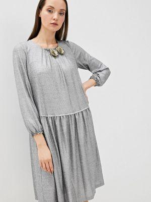 Серебряное вечернее платье Vera Moni