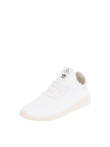 Białe sneakersy materiałowe z printem Adidas Originals
