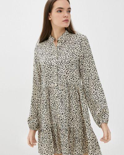 Бежевое платье рубашка Defacto