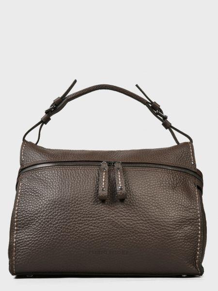 Кожаная сумка - коричневая Plinio Visona'