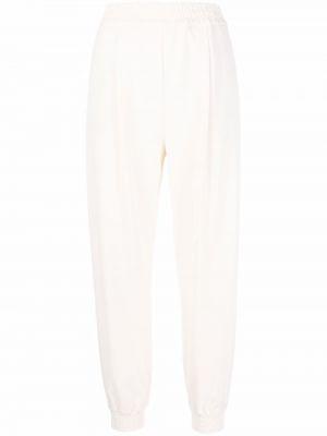 Шерстяные брюки - белые Erika Cavallini