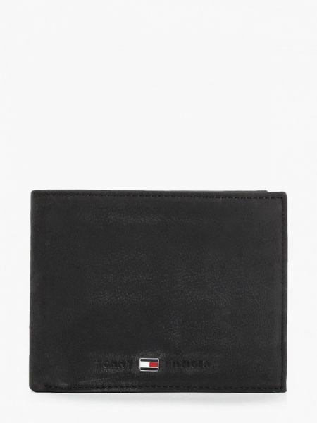 Кожаный кошелек - черный Tommy Hilfiger