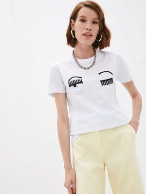 Белая итальянская футболка Chiara Ferragni Collection