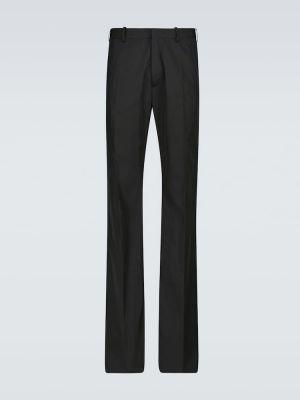 Czarne spodnie rozkloszowane Raf Simons