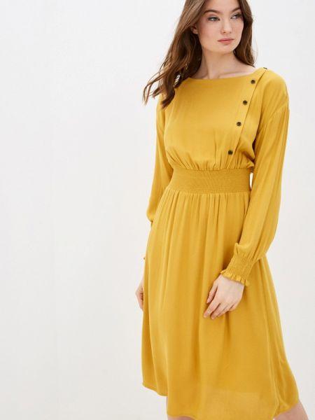 Платье прямое желтый Zarina