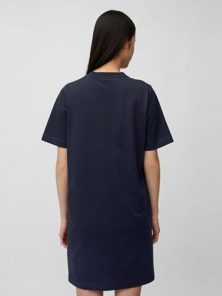 Свободное синее платье мини свободного кроя Marc O'polo