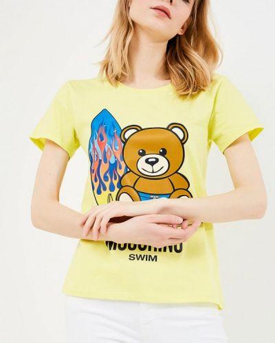 Желтая футболка Moschino