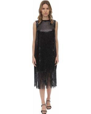 Платье с пайетками с бахромой Lautre Chose