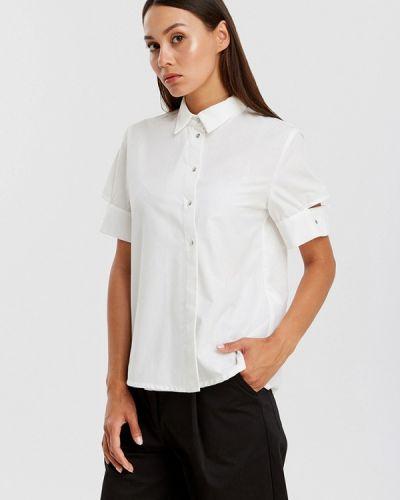 Блузка с коротким рукавом белая весенний Sefer