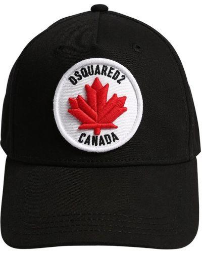 Kapelusz z haftem z logo Dsquared2