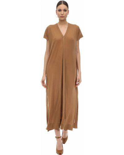 Платье макси длинное - коричневое Agnona