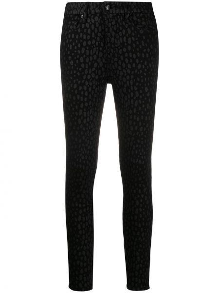 Czarne jeansy bawełniane z paskiem Good American