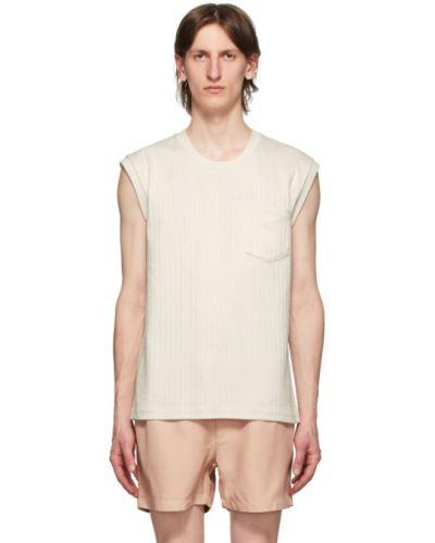 Белая рубашка с воротником с заплатками без рукавов Second/layer
