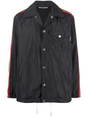 Czarna długa kurtka bawełniana z długimi rękawami Palm Angels