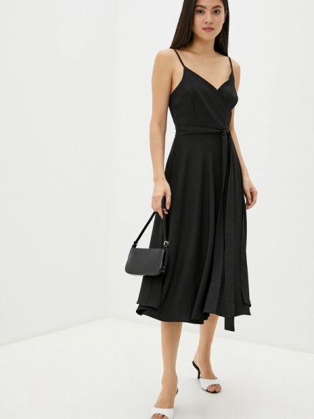 Однобортное черное платье Toryz