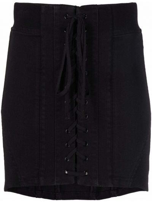 Джинсовая юбка миди - черная Philosophy Di Lorenzo Serafini