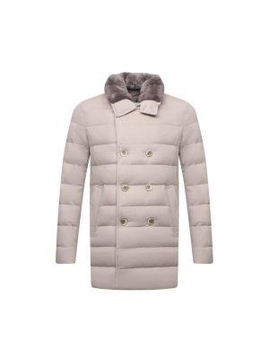 Бежевая пуховая куртка Herno