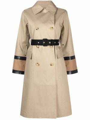 Бежевое американское пальто Mackintosh