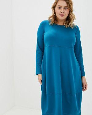 Платье бирюзовый прямое Malena