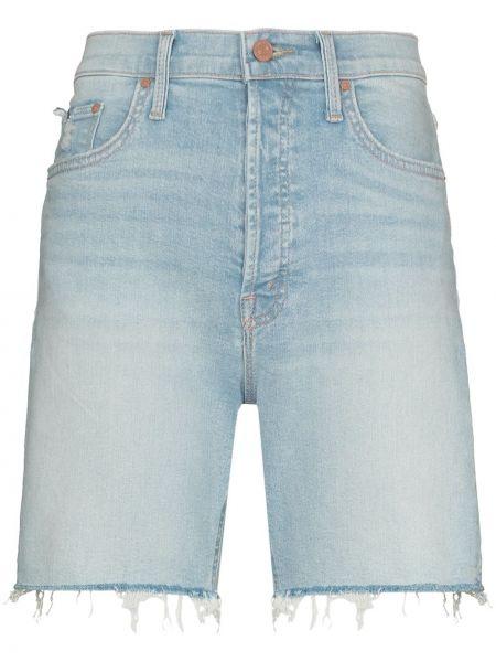 Синие джинсовые шорты Mother