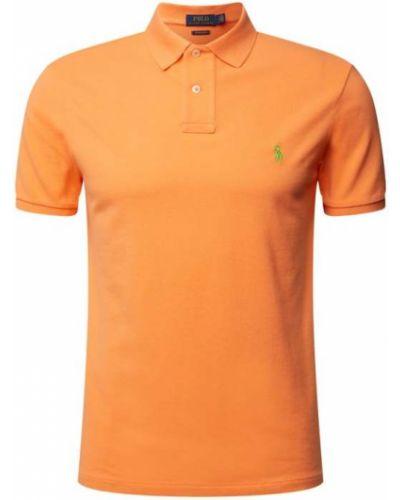 Pomarańczowy t-shirt bawełniany Polo Ralph Lauren