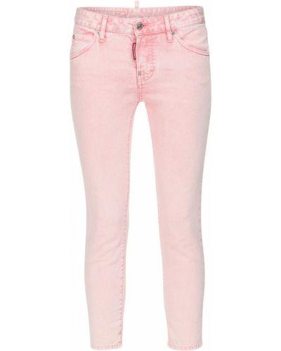 Розовые джинсы на пуговицах Dsquared2