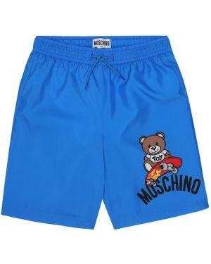 Плавки с принтом синие Moschino Kids