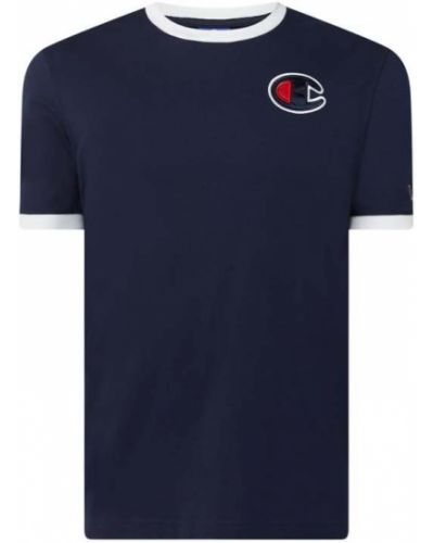 Niebieski t-shirt bawełniany Champion