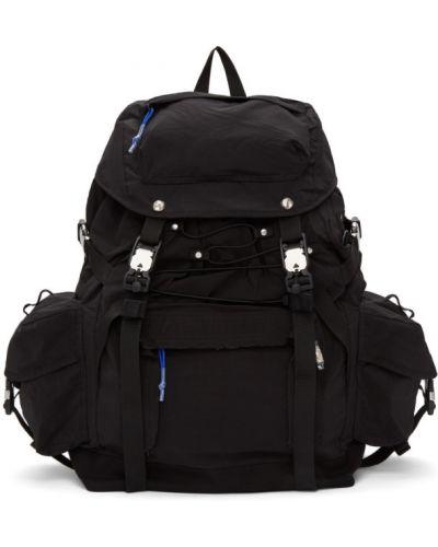 Czarny plecak z haftem z nylonu Ader Error