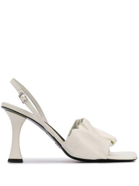 Otwarty sandały z klamrą otwarty palec u nogi z prawdziwej skóry Proenza Schouler