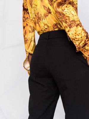 Шерстяные брюки - черные Rochas