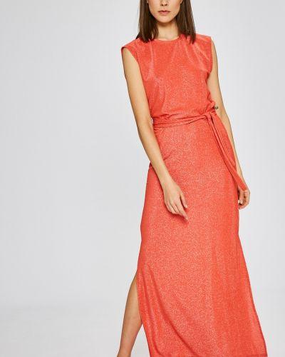 Платье макси прямое с вырезом Vila
