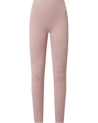 Różowe spodnie prążkowane Review