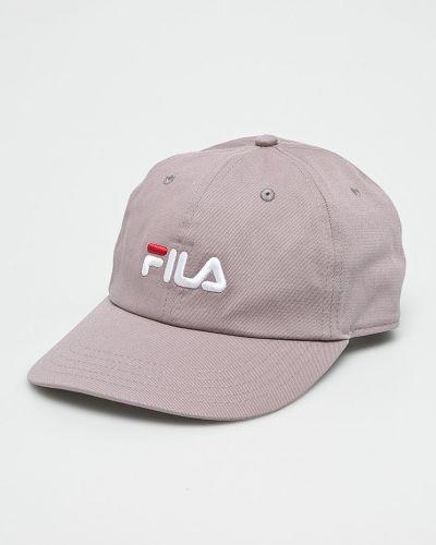 Фиолетовая шапка хлопковая Fila