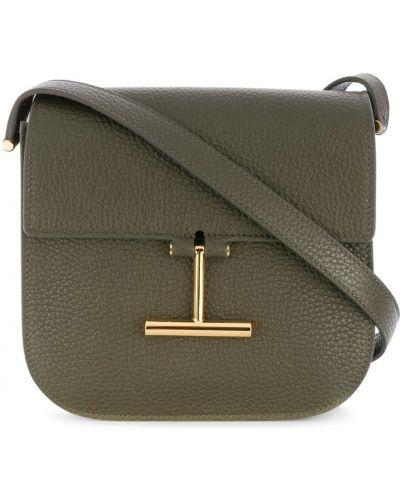 Кожаный сумка с пряжкой на плечо Tom Ford