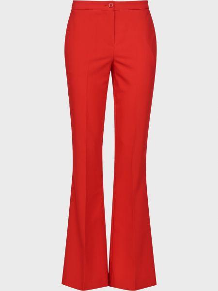Красные брюки на пуговицах из вискозы Sfizio