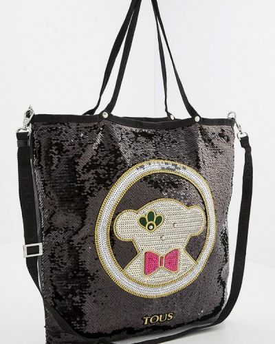 Черная сумка шоппер Tous