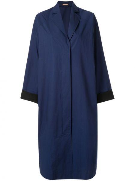 Синий пальто классическое на пуговицах Nehera
