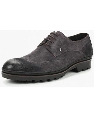 Черные туфли замшевые Dino Ricci