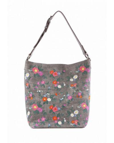 Серая кожаный сумка Alba Soboni