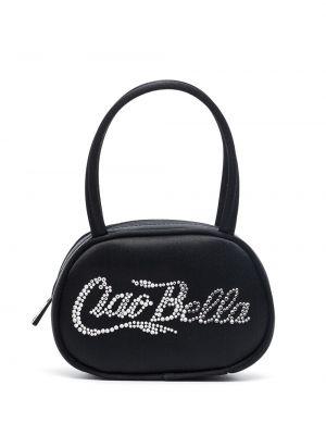 Шелковая сумка - черная Amina Muaddi
